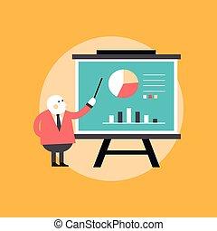 marketing campaign statistics concept