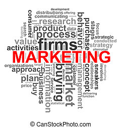 marketing, circolare, disegno, parola, etichette