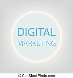 marketing, conceito, digital