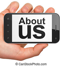 Marketing concept: About Us on smartphone - Marketing ...