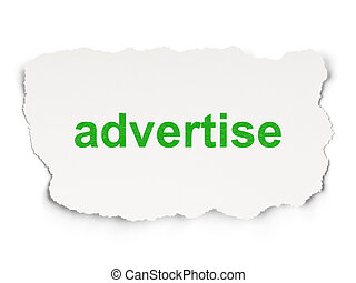 Marketing concept: Advertise
