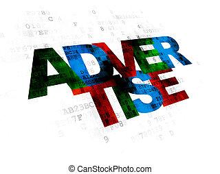 Marketing concept: Advertise on Digital background