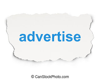 Marketing concept: Advertise on Paper background