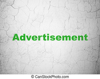 Marketing concept: Advertisement on wall background