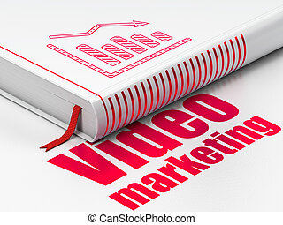 Marketing concept: book Decline Graph, Video Marketing on...