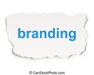 Marketing concept: Branding on Paper background