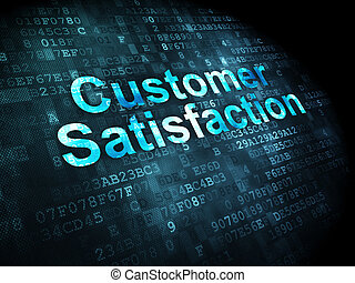 Marketing concept: Customer Satisfaction on digital...