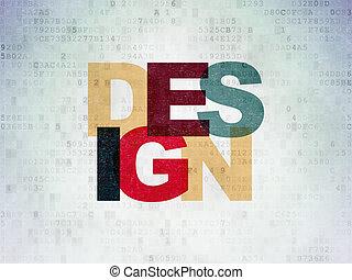 Marketing concept: Design on Digital Paper background