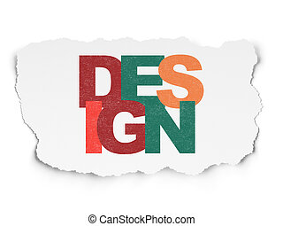 Marketing concept: Design on Torn Paper background