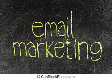 Email marketing on blackboard