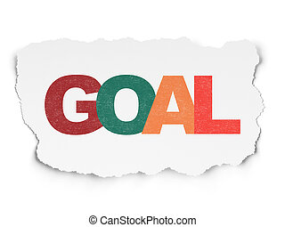 Marketing concept: Goal on Torn Paper background