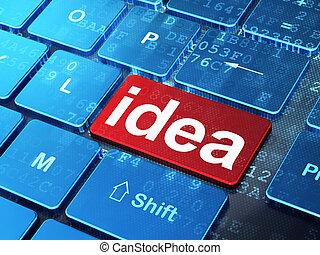 Marketing concept: Idea on computer keyboard background
