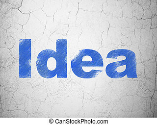 Marketing concept: Idea on wall background
