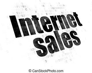 Marketing concept: Internet Sales on Digital background -...