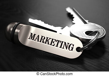 Marketing Concept. Keys with Keyring.