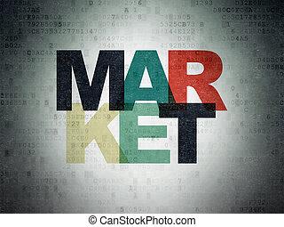 Marketing concept: Market on Digital Paper background