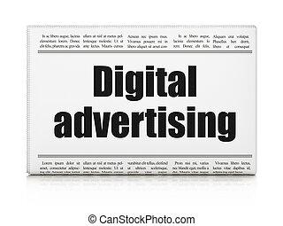 Marketing concept: newspaper headline Digital Advertising