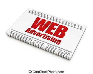 Marketing concept: newspaper headline WEB Advertising