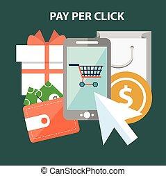 Marketing concept. Pay per click - Marketing design concept...