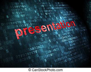 Marketing concept: Presentation on digital background