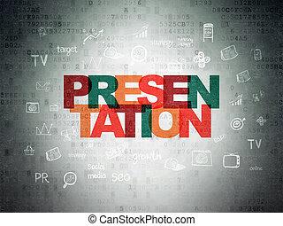 Marketing concept: Presentation on Digital Paper background