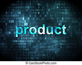 Marketing concept: Product on digital background
