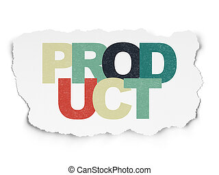 Marketing concept: Product on Torn Paper background