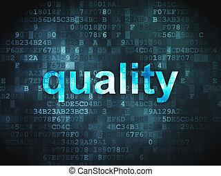 Marketing concept: Quality on digital background