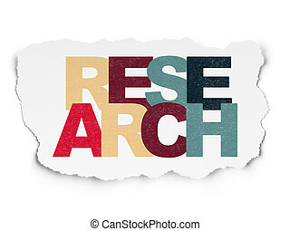 Marketing concept: Research on Torn Paper background