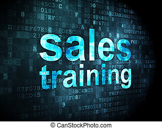Marketing concept: Sales Training on digital background