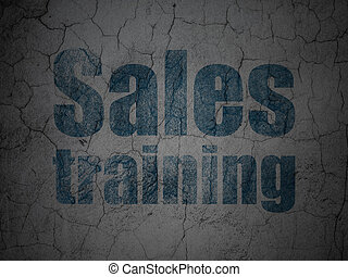 Marketing concept: Sales Training on grunge wall background