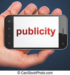 Marketing concept: smartphone with Publicity - Marketing...