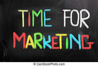marketing, concept, tijd