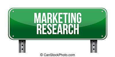marketing, concetto, ricerca, strada, segno