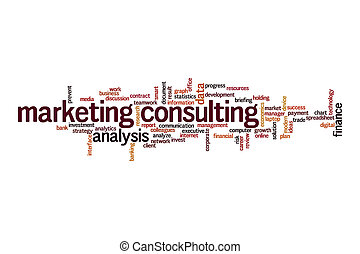 Marketing consultant word cloud concept