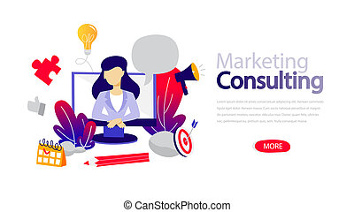 Marketing consulting horizontal banner for your website.