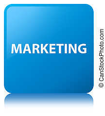 Marketing cyan blue square button