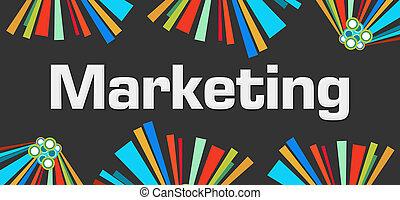 Marketing Dark Colorful Elements
