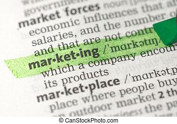 Marketing definition highlighted i