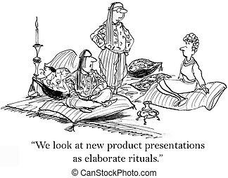 Marketing department has elaborate product presentation -...