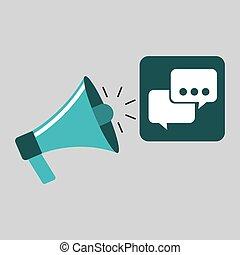 marketing digital bubble speech concept