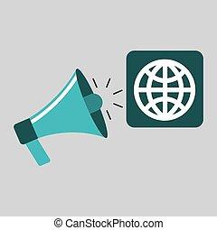marketing digital globe concept