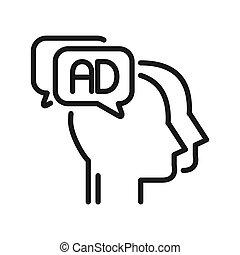 marketing, disegno, illustrazione, sociale