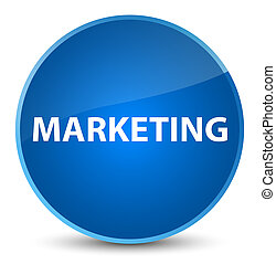 Marketing elegant blue round button