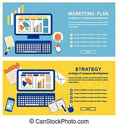 marketing, estratégia, bandeira