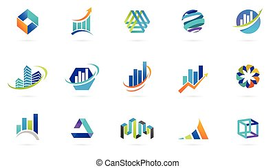 Marketing, finance, sales and business logos