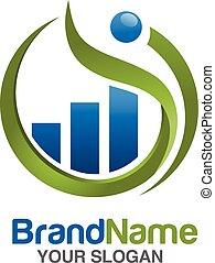 marketing finance with figure logo - marketing and finance...