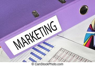 MARKETING  folder on a market report