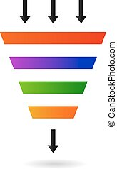 Marketing Funnel for conversion and sales analysis data rate...