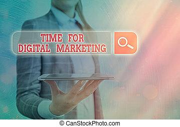 marketing., futuristico, media, digitale, connection., informazioni, concettuale, ricerca, testo, foto, vantaggio, tempo, web, esposizione, segno, rete, pubblicità, tecnologia, sociale